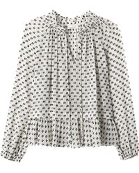 Rebecca Taylor | Long Sleeve Box Clip Top | Lyst