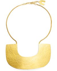 Herve Van Der Straeten | Hammered Plate Collar Necklace | Lyst