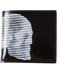 Alexander McQueen Skull Print Billfold Wallet - Lyst
