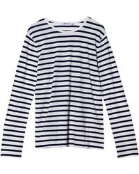 T By Alexander Wang Striped Linen Cotton Long Sleeve - Lyst