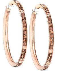 Swarovski Victor  Rolf Frozen Rose Gold-tone Hoop Earrings - Lyst