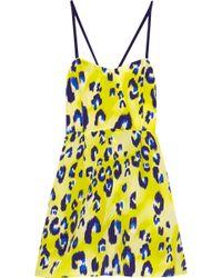 Matthew Williamson Escape Leopard-print Silk Mini Dress - Lyst