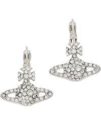 Vivienne Westwood Grace Bas Relief Earrings - Rhodium - Lyst
