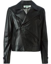 Kenzo K Zipped Biker Jacket - Lyst