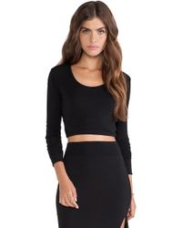 LNA Glasson Crop Top - Lyst
