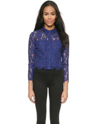 Whistles Chay Lace Crop Top  - Lyst
