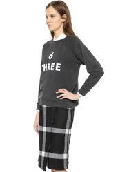 6397 6 Three Sweatshirt - Dusty Black - Lyst