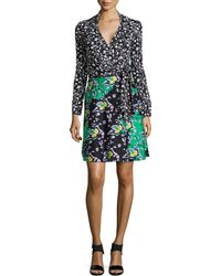 Diane von Furstenberg Amelianna Long-Sleeve Wrap Dress - Lyst