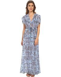 Seafolly Inked Stripe H2O Maxi Cover-Up blue - Lyst