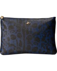 Vivienne Westwood Jungle Leopard Zipper Pouch - Lyst