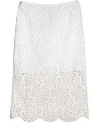 Cynthia Rowley Lace Pencil Skirt white - Lyst