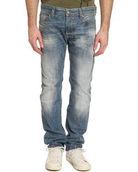 Diesel Safado Washed Light Blue Straightcut Jeans - Lyst