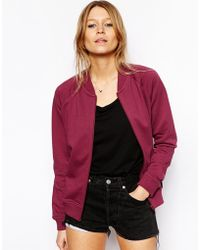 Asos Bomber Jacket with Zip - Lyst