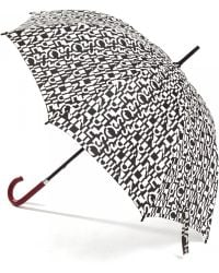 Lulu Guinness | Cut Up Logo Kensington Umbrella | Lyst