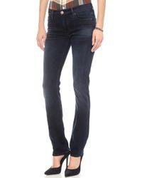 Hudson Tilda Midrise Straight Jeans Havoc - Lyst
