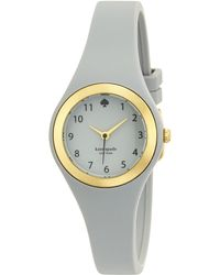 Kate Spade Rumsey Enamel, Goldtone Stainless Steel & Silicone Strap Watch/Grey gold - Lyst