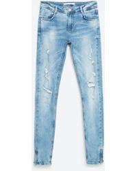 Zara   Faded Jeans   Lyst