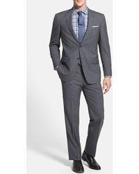 Hart Schaffner Marx 'New York' Classic Fit Windowpane Wool Suit - Lyst