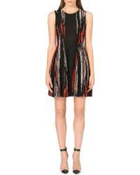 Issa Streak Print Shift Dress Blackred - Lyst