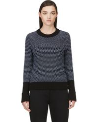 Rag & Bone Black Knit Sabina Crewneck - Lyst