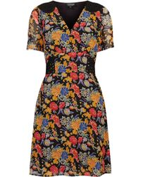 Topshop Floral Print Cornelli Tea Dress - Lyst