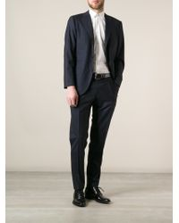 Kiton Blue Classic Suit - Lyst