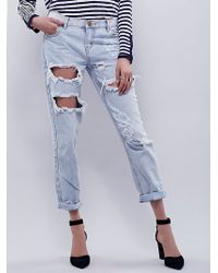 Free People | Awesome Destroyed Baggies 1 | Lyst