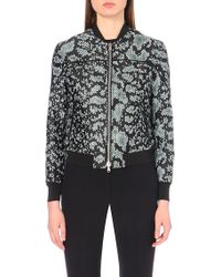 3.1 Phillip Lim Black Digital Anaconda Bomber Jacket - Lyst