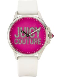 Juicy Couture 1901094 Silver-Tone & White Watch - Lyst