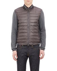 Moncler Tech-Fabric & French Terry Jacket gray - Lyst