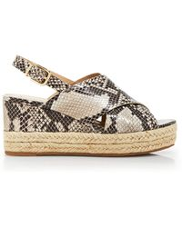 Via Spiga - Platform Wedge Sandals - Bloomingdale's Exclusive Triana - Lyst