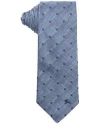 Burberry London Sky Blue Dotted Print Silk 'Earl' Tie blue - Lyst