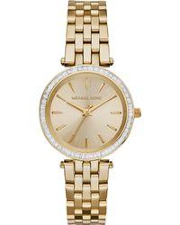 Michael Kors Womens Mini Darci Gold-tone Stainless Steel Bracelet Watch 33mm - Lyst