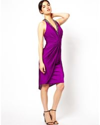Forever Unique Purple Fabia Dress - Lyst