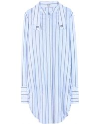 Kenzo Striped Cotton Shirt - Lyst