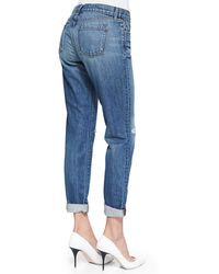 J Brand Destruction Jake Bohemia Boyfriend Jeans - Lyst