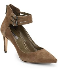 BCBGeneration Zeke Suede Ankle Strap Pumps - Lyst