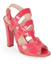 Sergio Rossi Patent Leather Sandals - Lyst