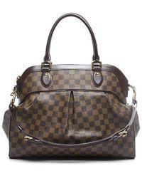Louis Vuitton Preowned Damier Ebene Trevi Gm Bag - Lyst