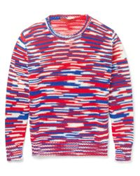 Raf Simons Sterling Ruby Striped Crew Neck Sweater - Lyst