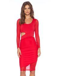 Donna Mizani Midi Cut Out Dress - Lyst