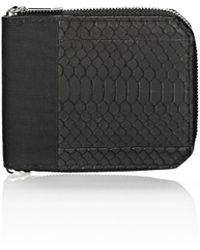 Alexander Wang Zipped Bi-Fold Wallet In Rubberized Snake And Nylon - Lyst