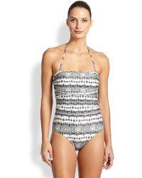 ViX One-Piece Sphinx-Print Swimsuit - Lyst