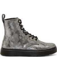 Dr. Martens Silver British Camo 8_eye Disc Boots - Lyst