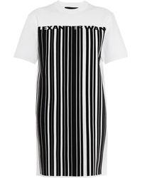 Alexander Wang - Barcode-logo Jumper Dress - Lyst