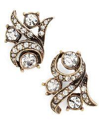 Allison Reed - Pave Flourish Earrings - Lyst