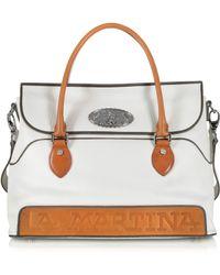 La Martina - Evita White Leather Bag - Lyst
