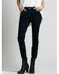 Free People Copperhead Flocked Skinny - Lyst