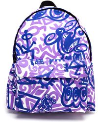 Jeremy Scott Live The Dream Printed Nylon Backpack - Lyst