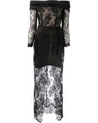 Alessandra Rich Lace Dress - Lyst
